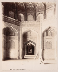 Tatta, Karachi District, Sindh. Jami Masjid, interior